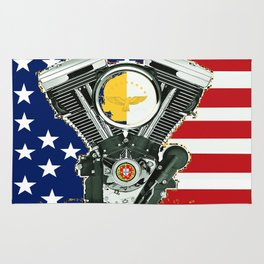 Portuguese Immigrant motorcycle Culture. Rug