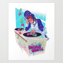 Amelia Bedelia drops the beat Art Print