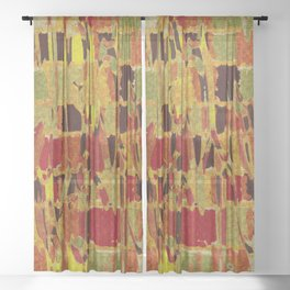 autumn colours abstract 1 Sheer Curtain