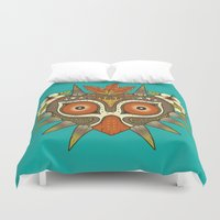 tiki Duvet Covers featuring Tiki Majora by Paula García
