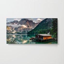 Italy mountains lake Metal Print