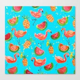 Flamingo Tropical Canvas Print