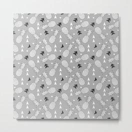 Tropical pineapple pattern Metal Print