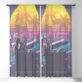 guts Berserk 80s retro vintage Sheer Curtain