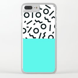 Memphis pattern 43 Clear iPhone Case