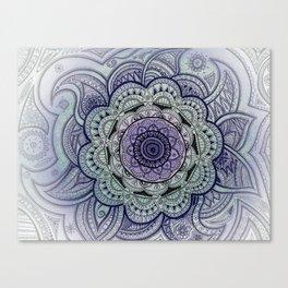 Mandala Violet Canvas Print