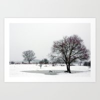 The Purple Tree of Winter Art Print