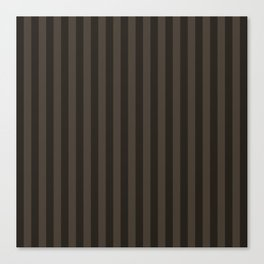 Taupe Brown Stripes Pattern Canvas Print
