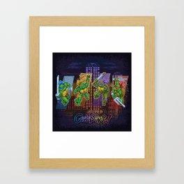 Ninja Teen Turtle Mutants xstat Framed Art Print