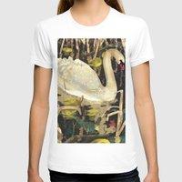 swan T-shirts featuring Swan by Lara Paulussen
