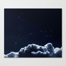 Constellations  Pisces -Dark blue clouds Canvas Print