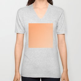 Light Orange and Peach Gradient Ombré  Unisex V-Neck