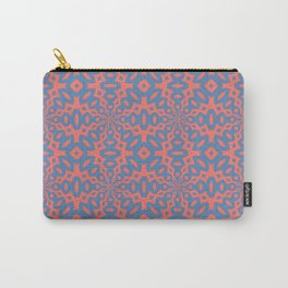 Living Coral And Pacific Blue Seamless Pattern Carry-All Pouch