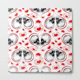 Valentine Skulls Metal Print