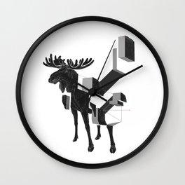moose_deconstructed Wall Clock