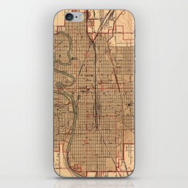 Vintage Map of Wichita Kansas (1943) iPhone Skin