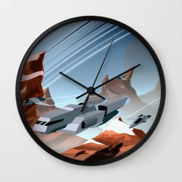 Steel and Rock Wall Clock