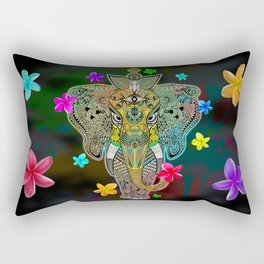 Elephant Zentangle Doodle Art  Rectangular Pillow
