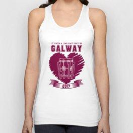 All Ireland Senior Hurling Champions: Galway (White/Maroon) Unisex Tank Top