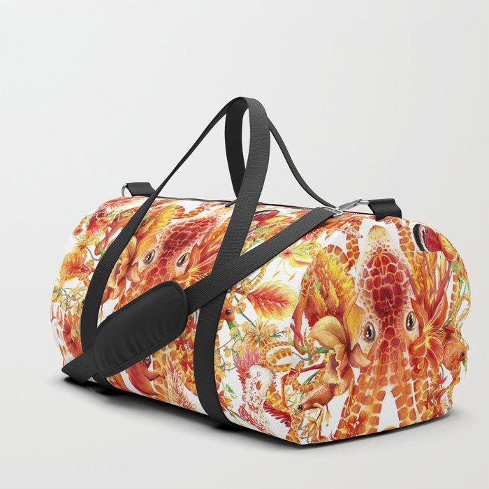 Tangerine Pattern Duffle Bag