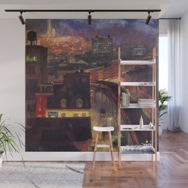 Classical Masterpiece 'The City from Greenwich Village' New York City by John French Sloan Wall Mural