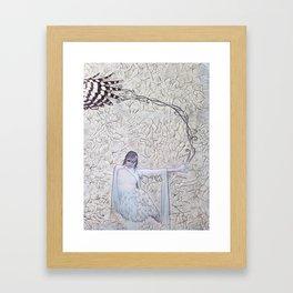 Asio flammeus sandwichensis (detail) Framed Art Print