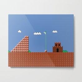 home at last! Original Mario Brothers Castle Metal Print