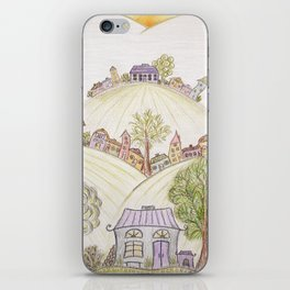 Hills of Colorful Houses iPhone Skin