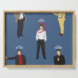 The Usual Suspects, Kevin Spacey, minimalist movie poster, Gabriel Byrne, Singer, Benicio Del Toro, Serving Tray