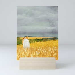 There's a ghost in the wheat field again... Mini Art Print