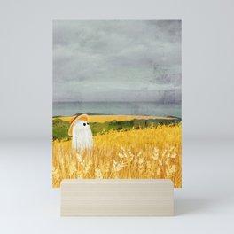 There's a ghost in the wheat field again... Mini Art Print