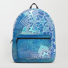 Mandala blue Backpack