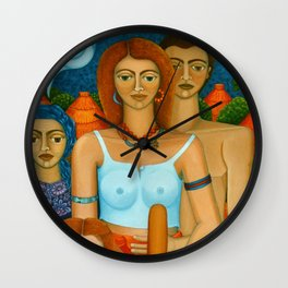3 Ages of a Woman and a Man Wall Clock