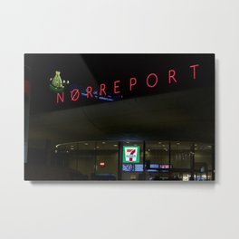 Norreport at night 1 Copenhagen Metal Print