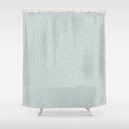 SILVER STARS CONFETTI Shower Curtain