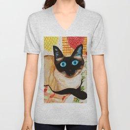Misha the beautiful Siamese Cat Unisex V-Neck