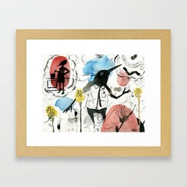 Memories Swell with Vodka in hand Framed Art Print