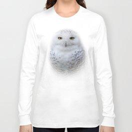 Dreamy Encounter with a Serene Snowy Owl Long Sleeve T-shirt