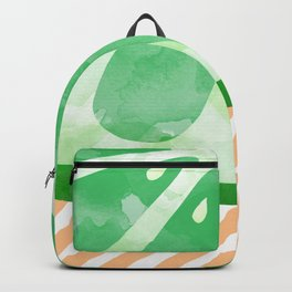 Lime Abstract Backpack
