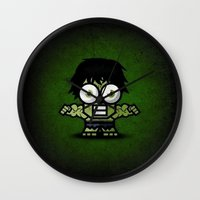 hulk Wall Clocks featuring Hulk by Thorin