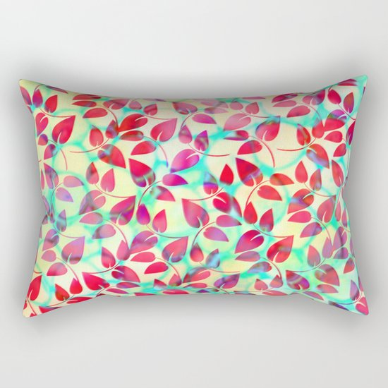 Dots and Leaves Rectangular Pillow
