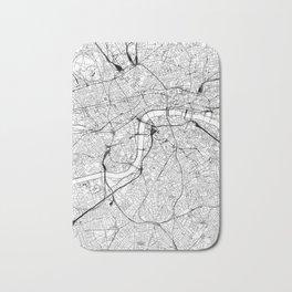 London White Map Bath Mat