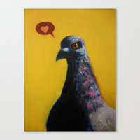 instagram Canvas Prints featuring Instagram by Dretty Ink