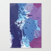 splatter Canvas Prints featuring Splatter by initiale