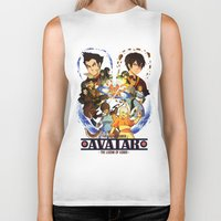 avatar the last airbender Biker Tanks featuring Team Avatar by Willow