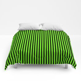 Striped black and light green background Comforters