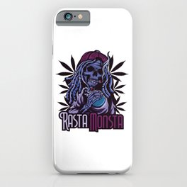 A Unique Detailed Zombie Tee For Yourself? Here's An Awesome T-shirt For You Rasta Monsta Design iPhone Case