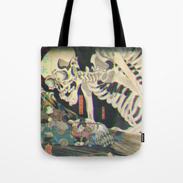 Takiyasha the Witch and the Skeleton Glitch Tote Bag
