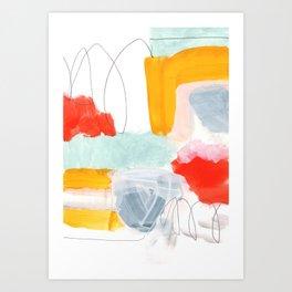 abstract painting XVI Art Print