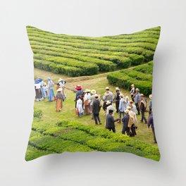 Tea gardens Throw Pillow